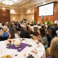 Carl Spain Center Luncheon at the Hunter Welcome Center (2018): Photo of the crowd